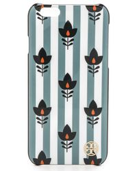 Tory Burch Multicolor Tulip Iphone 6 Case - Folk Floral With Oxford Stripe
