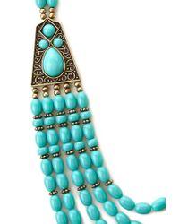 Forever 21 Blue Boho Beaded Necklace