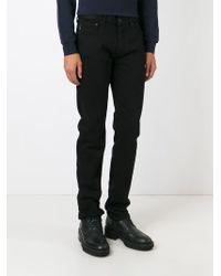 Stone Island Black Straight Leg Jeans for men