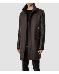 AllSaints Brown Cleaver Parka Jacket for men