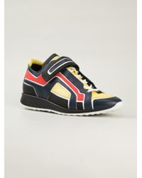 Pierre Hardy - Blue Colour Block Sneakers for Men - Lyst