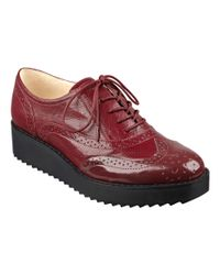 Nine West | Red Vinata Lace-up Oxfords | Lyst