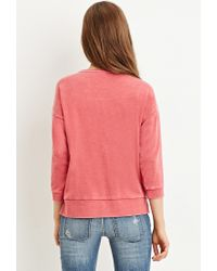 Forever 21 - Red Paneled Sweatshirt - Lyst