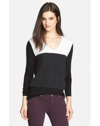Trouvé - Black Colorblock Sweater - Lyst
