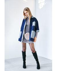 Glamorous - Blue Patch Pocket Denim Jacket - Lyst