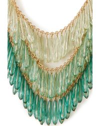 Forever 21 - Metallic Ombre Glass Bead Necklace - Lyst