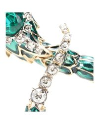 Roberto Cavalli | Green Embellished Clip-on Earrings | Lyst