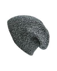 VINCE | Black Ribbed & Marled Cashmere Beanie for Men | Lyst