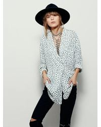Free People | Blue Dream Time Sleep Shirt | Lyst