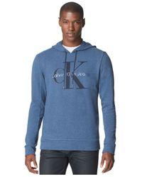 Calvin Klein Jeans - Blue Logo Hoodie for Men - Lyst