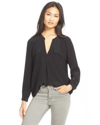 Joie | Black 'haim' Silk Shirt | Lyst