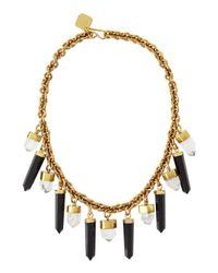 Ashley Pittman - Black Obsidian & Crystal Prism Bib Necklace - Lyst