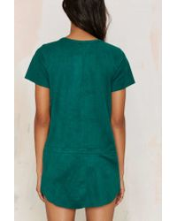 Nasty Gal - This Is The Girl Vegan Suede Tee Dress - Green - Lyst