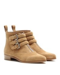 Tabitha Simmons - Brown Split Suede Ankle Boots - Lyst