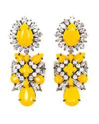 Shourouk | Yellow Blondie Crystal and Enamel Beaded Earrings | Lyst