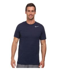 Nike - Black Dri-fit™ Touch S/s Heathered for Men - Lyst