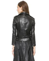 OAK Rider Leather Jacket - Black