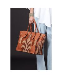 Valentino Brown To Be Cool Leather and Suede Shopper