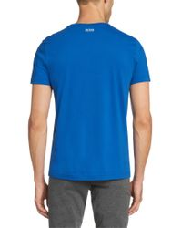 BOSS Green Blue Cotton T-shirt: 'tee 2' for men