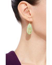 Mark Davis | Multicolor Bakelite Earrings With Diamonds And Spessartite Garnet And Peridot | Lyst