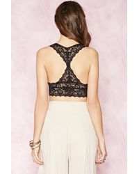 Forever 21 - Black Caged Ornate Lace Bralette - Lyst