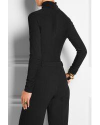 Donna Karan - Black Stretch-jersey Turtleneck Bodysuit - Lyst