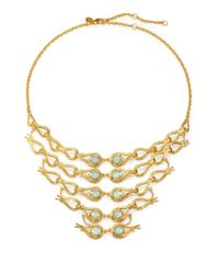 Alexis Bittar | Green Amazonite White Quartz Doublet Bib Necklace | Lyst