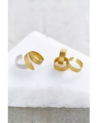 Urban Outfitters Metallic Hidden Hieroglyphs Ring Set