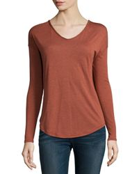 Rag & Bone | Brown Femme Long-sleeve Top | Lyst