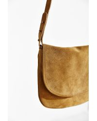 BDG - Natural Minimalist Suede Crossbody Bag - Lyst