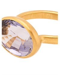 Marie-hélène De Taillac Metallic Iolite & Yellow-Gold Ring