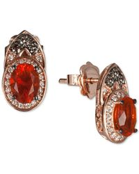 Le Vian | Pink Chocolatier® Fire Opal (2/3 Ct. T.w.) And Diamond (1/3 Ct. T.w.) Earrings In 14k Rose Gold | Lyst