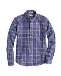 J.Crew Blue Slim Thomas Mason For Jcrew Shirt in Night Shadow Tartan for men
