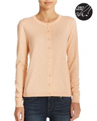 Lord & Taylor | Orange Plus Dotted Knit Cardigan | Lyst
