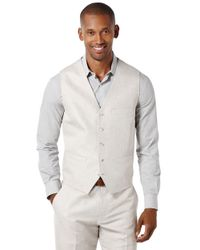 Perry Ellis | Natural Pointed Twill Vest for Men | Lyst