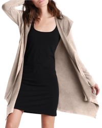 UGG | Natural Hooded Open-front Cardigan | Lyst