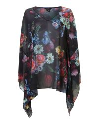 Ted Baker Brown Oil Painted Floral Cover Up