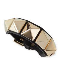 Valentino | Metallic Va Va Voom Leather Rockstud Bracelet | Lyst