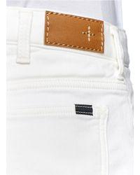 Beams Plus White 'jog' Slim-fit Jeans for men