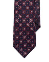 Burma Bibas Blue Seven Fold Floral Medallion Tie for men