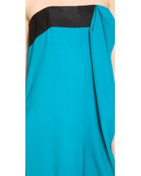 Thakoon Addition | Blue Strapless Bow Front Jumpsuit | Lyst
