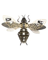 Lanvin - Metallic Embellished Insect Brooch - Lyst