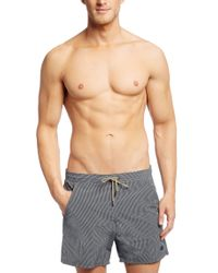 BOSS Gray Swim Shorts 'batfish' In A Quick-drying Material for men