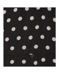 Polo Ralph Lauren | Black Perrin Polka-dot Silk Chiffon Dress | Lyst