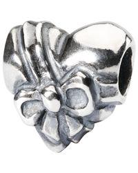 Trollbeads | Metallic Sterling Silver Heart Bow Bead | Lyst