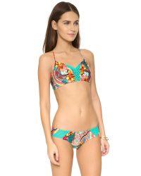 Luli Fama | Multicolor Chasing Waterfalls Bikini Top | Lyst