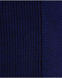 Ted Baker   Blue Half Cardigan Stitch Scarf for Men   Lyst