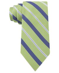 Tommy Hilfiger | Green Texture Stripe Tie for Men | Lyst