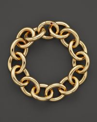 Roberto Coin | Metallic 18K Yellow Gold Link Bracelet | Lyst