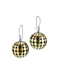 John Hardy | Metallic Dot Gold & Silver Ball Drop Earrings | Lyst